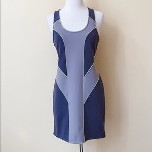 UO Silence + Noise Gray Colorblock Bodycon Dress